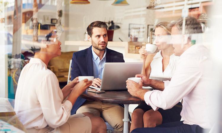 Coffee shop meeting